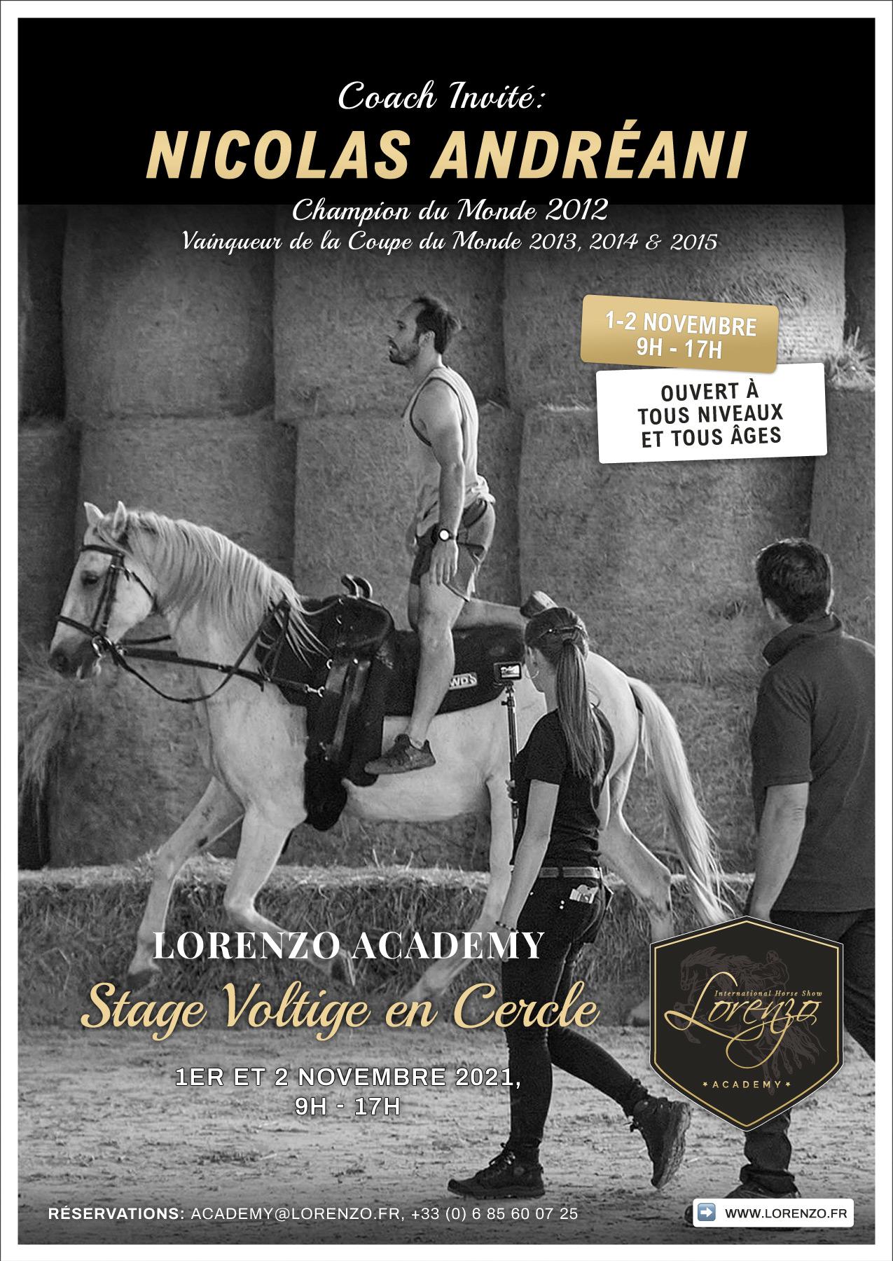 Stage voltige en cercle avec Nicolas Andreani